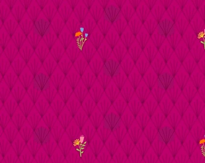 Windham Fabrics - Favorite Things by Sassafras Lane - Magenta Flowers - 52154-3