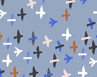 FIGO Fabrics - Moonlit Voyage by Amy Van Luijk - (90049 40 BLUE) - Juvenile