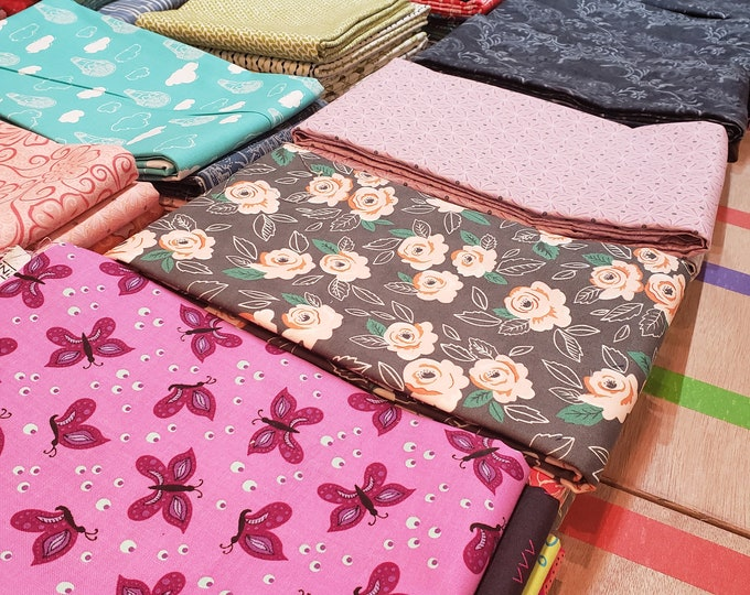 Mystery Bundles of Fabric - 5 One Yard Cuts, Coordinated
