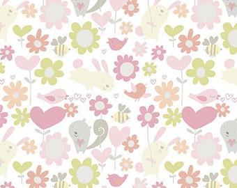 CLEARANCE - Free Spirit Fabrics - Posies - Hugs by David Walker - Juvenile Fabric