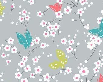 Michael Miller Fabrics - Project Dovetail - Butterfly Blossoms (DC7081-CLOU-D) - Blenders