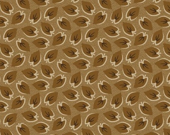 CLEARANCE - Washington Street Studio - Tan Leaves - American Patch by Rocky Mountain Quilt Museum - Reproduction