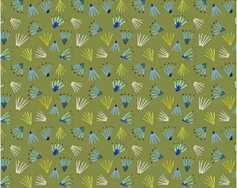 Windham Fabrics - Field Day by Kelly Ventura - 51277-9 - Green seeds - Blender