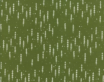 Moda Fabrics - Merriment by Gingiber - 48274 13 - Holiday / Seasonal - Green Trees