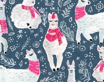 Dear Stella Fabrics - Best in Snow by August Wren - STELLA DAW1205 Midnight - Holiday / Seasonal
