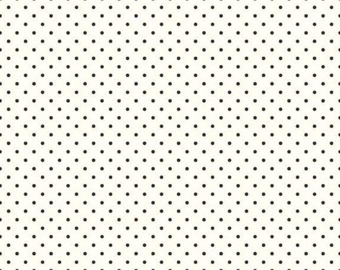 CLEARANCE - Riley Blake - Le Creme Dots - C600-110 Black