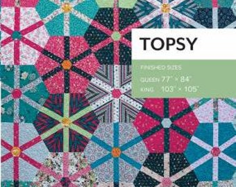 Topsy Quilt Pattern by Sheila Christensen Quilts