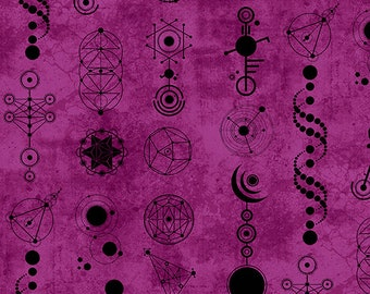 Andover Fabrics - Declassified by Giucy Giuce - A-9242-P - Crop Circles in Amethyst