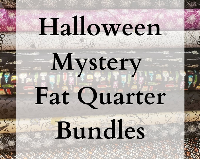 LIMITED EDITION - Halloween Mystery Bundles of Fabric - 10 Fat Quarters
