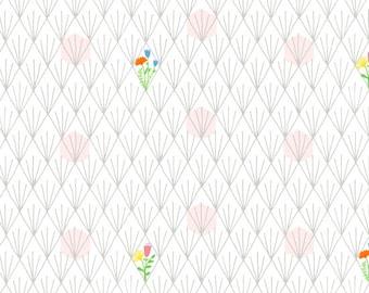 Windham Fabrics - Favorite Things by Sassafras Lane - White Flowers - 52154-2