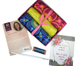"""Complete Modern Maker Box - Diving Board by Alison Glass for Andover Fabrics - Box """"Kracken"""" -  Quilters Cotton"""