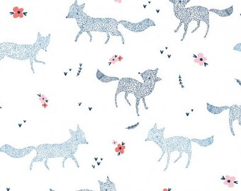 CLEARANCE - Dear Stella Fabrics - Dotted Foxes - Pine Grove (Stella-699)- Juvenile and Childrens