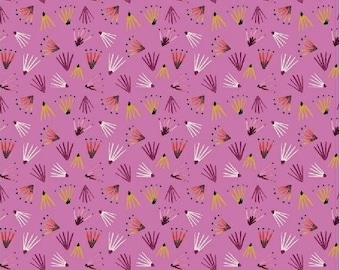 Windham Fabrics - Field Day by Kelly Ventura - 51276-8 - Pink seeds - Blender