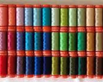 Mystery Bundles of Thread - 5 Spools of 200 yd 50wt Aurifil thread - Assorted Colors (non metallic, all cotton)