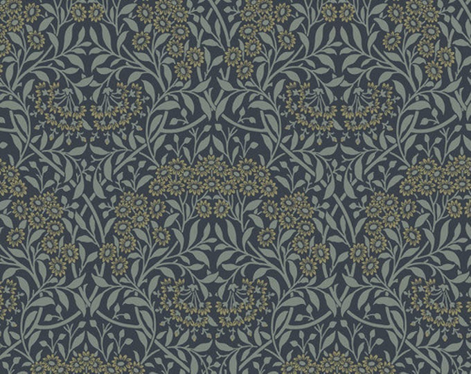 Chess Fabric B - Pure Minerals by The Original Morris & Co - Michaelmas Daisy Ink - PWWM035-Ink