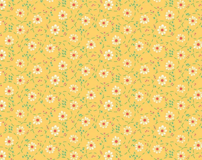 Skipbo Fabric D - Shades of Summer by Heather Peterson - Daisy Yellow - C9784-Yellow