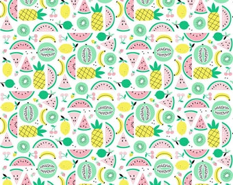 Blend Fabrics - Fruitopia by Stacy Peterson - 125.108.03-2 - Holiday / Seasonal - Mixed Summer Fruit