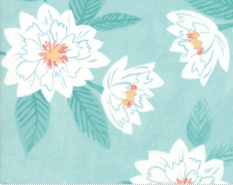 Moda Fabrics - Twilight by One Canoe Two - Peony Floral Mist (36030 13) - Floral