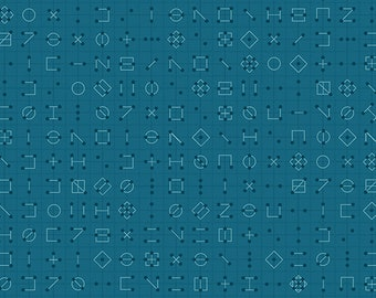 Andover Fabrics - Declassified by Giucy Giuce - A-9246-T - Cipher in Ocean Floor