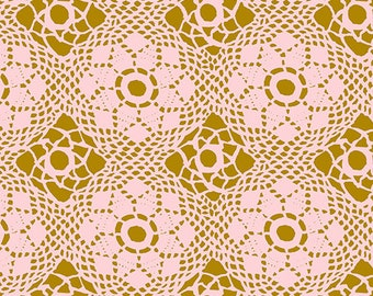 Paradise Fabric F - Handiwork by Alison Glass for Andover - Blush Crochet - A9253-E