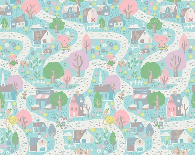 CLEARANCE - Riley Blake - Once Upon a Rhyme by Jill Howarth - C8021 Aqua
