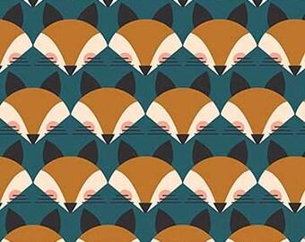 FIGO Fabrics - Treehouse by Lemmoni - Fox Teal (9070 64 TEAL) - Modern Maker Box