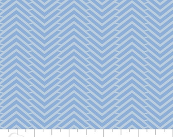 CLEARANCE - Camelot Mixology - Herringbone in Marina - Blender Fabric