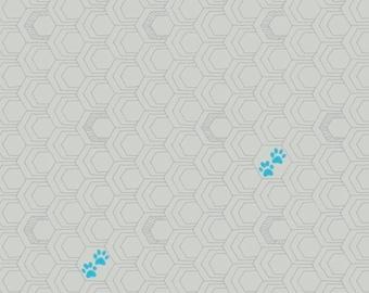 Windham Fabrics - Favorite Things by Sassafras Lane - Gray Paws - 52159-11