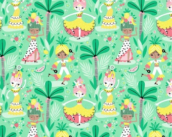 Blend Fabrics - Fruitopia by Stacy Peterson - 125.108.01-2 - Holiday / Seasonal - Calypso Dancers
