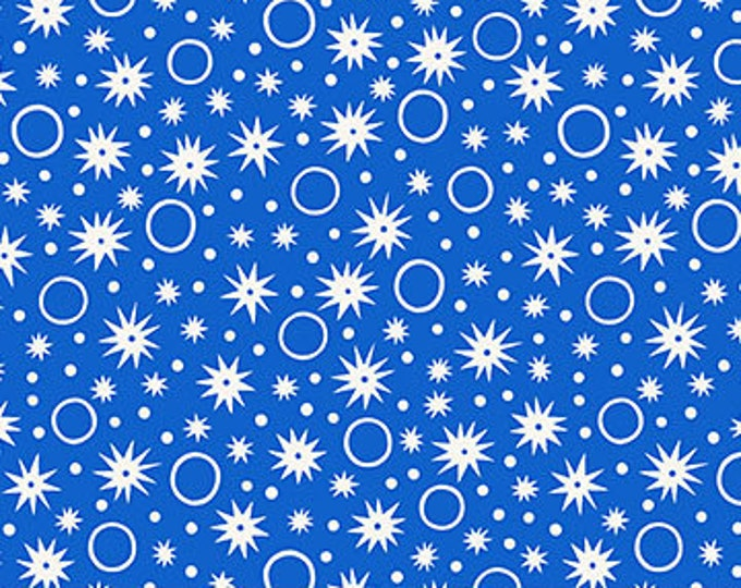 Sunstruck Fabric E - Ring Toss by Emily Taylor for FIGO - Blue Ring/Star - 90159-42