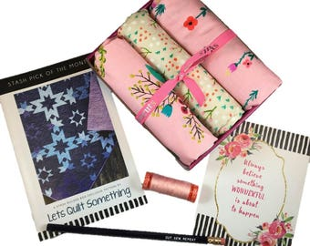"""Complete Modern Maker Box - Meriwether by Amy Gibson for Windham Fabrics - Box """"Pink"""" -  Quilters Cotton"""