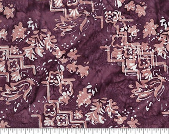 Banyan Batiks - Intaglio - Purple and Peach - 80304-84