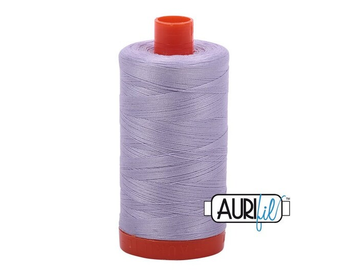 50 Wt AURIFIL - Iris 2560 Mako - Made in Italy 1300m Quilt Cotton Quilting Thread (MK50SP2560)