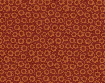 RJR - Simple Bloom, Red and Orange - River Song by Lynette Jensen (3058-001) - Reproduction