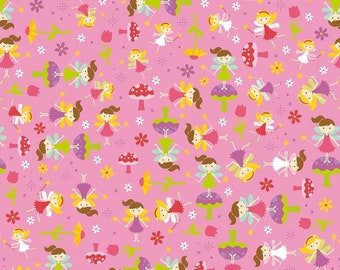 Cordelia Fabric B - Fairy Garden by Riley Blake -C7722 - Pink - Toss in Pink