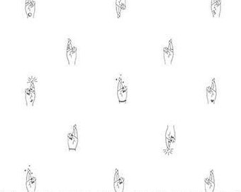 FIGO / Northcott Fabrics - Lucky Charms by Ghazal Razavi - 92001-10 WHITE - Modern