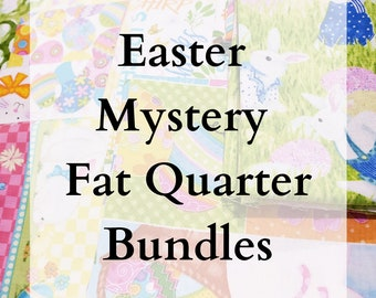 LIMITED EDITION - Easter / Spring Themed Mystery Bundles of Fabric - 10 Fat Quarters