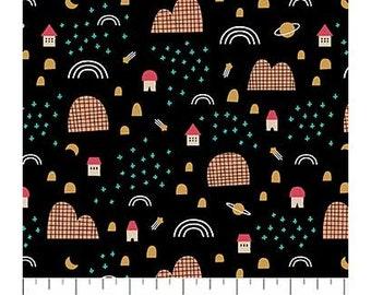 FIGO Fabrics - Special Delivery by Lemonni - (90015 - 99 - Black) - Juvenile
