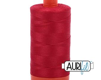 50 Wt AURIFIL - Red 2250 - 1300M - Cotton Quilting Thread (MK50SP2250)