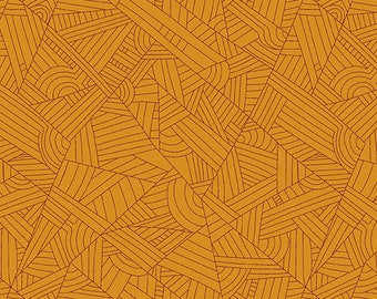 CLEARANCE - Andover Fabrics - Mosaic by Shannon Brinkley - Butterscotch Lines (A-8886-EO) - Modern Maker Box