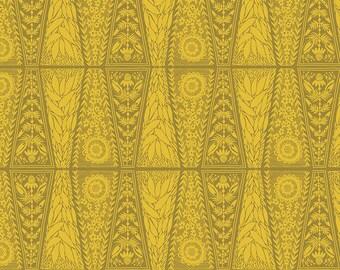 Free Spirit Fabrics - Second Nature by Anna Maria Horner - Dresden Lace in Saffron (PWAM008) - Modern Maker Box