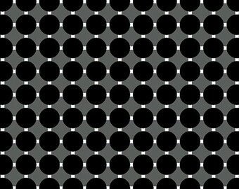Contempo by Benartex - Gridwork - Circle Grid Black - 06815.12 - Blender