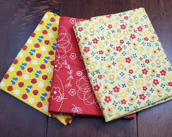 3 Half Yard Fabric Bundle - Amy Gibson and Kimberbell - Quilting Cotton