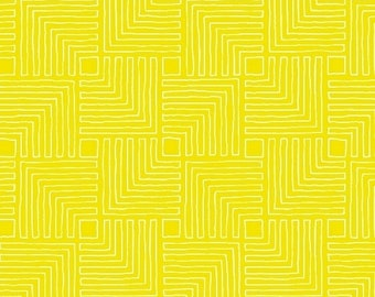 Windham Fabrics - Good Vibes Only by Shayla Wolf of Sassafras Lane Designs - Yellow Maze (51109-26) - Blender