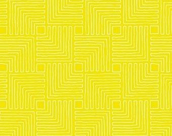 Windham Fabrics - Good Vibes Only by Shayla Wolf of Sassafras Lane Designs - Yellow Maze (51109-26) - Blender