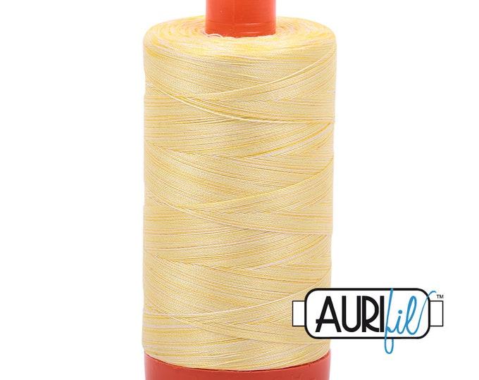 50 Wt AURIFIL - Lemon Ice 3910 - Variegated 1300M Cotton Quilting Thread