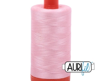 50 Wt AURIFIL - Baby Pink 2423 - 1300M Cotton Quilting Thread (MK50SP2423)