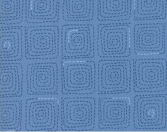 Tiffany Binding - Breeze by Zen Chick for Moda - Stitched French Blue - 1693-16