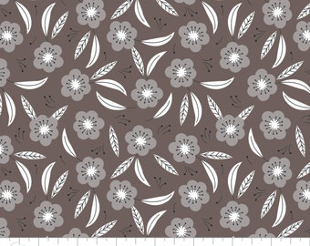 CLEARANCE - Camelot Fabrics - Captivate by Alise Courter - Grey on Grey Floral (2240704-3)