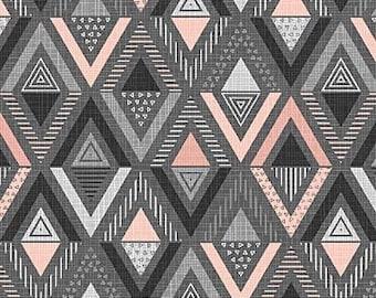 Northcott Fabrics - Cosmo Charcoal Pink - Triangle Diamond - 23056.95 - Modern Maker Box